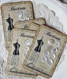 Shabby Chic Inspired: button card freebie