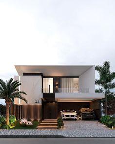 Modern Exterior House Designs, Dream House Exterior, Modern Architecture House, Modern House Plans, Modern House Design, Exterior Design, Architecture Design, Home Stairs Design, House Front Design