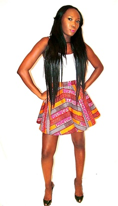 African print skirt by YINKAALLI on Etsy, $47.11