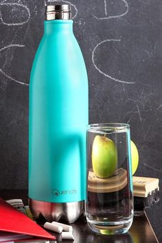 Quench Bottle Turquoise | GoodiesHub.com 18 Hours, Turquoise, Teal, Lava Lamp, Flask, Beverages, Water Bottles, Shops, Vibrant