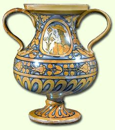 Renaissance Majolica - Lustre majolica is an important production for Deruta tradition documented at the beginning of the 16th century with  San Sebastian plaque, dated 1501 and now housed in the Victoria and Albert Museum of London.