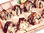 Chocolate-Coconut Macaroons from FoodNetwork.com  Love the chocolate tipped macaroons!!!!