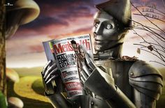Mens Health Advertisement featuring the Tin Man