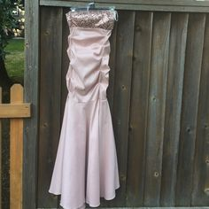 Dress Pink blush mermaid style formal dress. Perfect for prom. Super fitted. Also runs a little small. It has some stretch. Goes perfect with a pair of sparkly shoes. Blondie Nites  Dresses Strapless