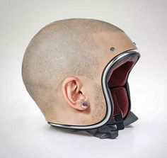 These Motorcycle Helmets Are Modeled After Human Heads More