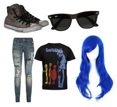 """""""gorillaz 2D"""" by katieflemingkf ❤ liked on Polyvore featuring Converse, Polo Ralph Lauren and Ray-Ban"""