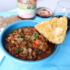 Salsa Lentil Soup | http://memeinge.com/blog/salsa-lentil-soup/