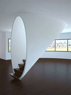 Round covered staircase