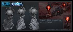 Heroes Of The Storm - Hell Tower Level 1, David Harrington on ArtStation at https://www.artstation.com/artwork/K34Y4