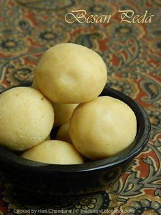 Indian Besan Peda -  Milk and Chickpea Flour Fudge