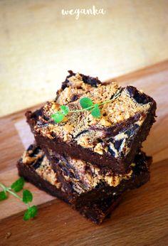 Kuchnia wegAnki: Bezglutenowe brownie z masłem orzechowym