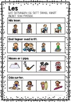 Jeg øver - lesing og skriving In Kindergarten, Kids And Parenting, Teaching Kids, Norway, Homeschool, Language, Education, Learning, 2nd Grades
