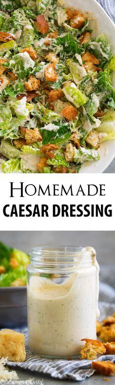 Caesar Salad Recipe with Homemade Caesar Salad Dressing - Cooking Classy