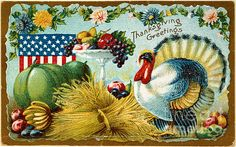 Gary lawrance everybody have a happy thanksgiving please also a patriotic american thanksgiving card thanksgiving greetings gilded age c1900 m4hsunfo