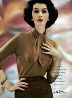 Dovima, 1957 #Vintage #Fashion