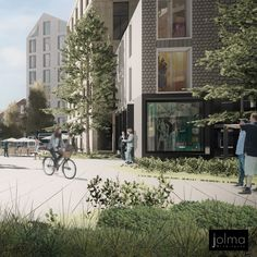 Jolma Architects specializes in innovative urban design. Utilizing the latest in urban research and development we create smart, sustainable cities and neighborhoods that are attractive environments in which to live and work. Sustainable City, Wooden Buildings, Land Use, Futuristic City, Circular Economy, Alvar Aalto, Design Research, Design Competitions, Modern City