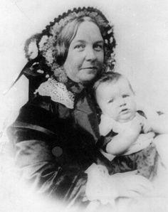 Elizabeth Cady Stanton and her daughter, Harriet.