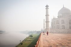 Tourists at the Taj Mahal in Agra, India #India #travelphotography #travelphotographer #streetphotography #streetphotographer