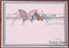 Stampin' Up! UK - Butterfly Birthdays, elegant and bitty butterfly punches, travel journal wheel stamp