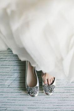 Gorgeous dress and silver wedding flats   Keywords: #silverweddings #jevelweddingplanning Follow Us: www.jevelweddingplanning.com  www.facebook.com/jevelweddingplanning/