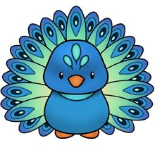 Peacock - More colors available plus lots of other clip art on this site