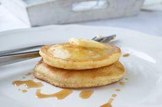 Kokos-Reis Pancakes Pancakes, Vegetarian, Vegan, Breakfast, Food, Coconut Yogurt, Rice, Raspberries, Food And Drinks