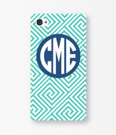 Monogrammed iPhone case.
