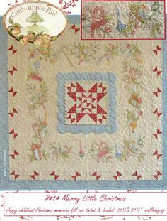 Merry Little Christmas Wall Hanging Pattern by LavenderQuiltShop on Etsy