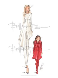 First Family | First Daughter | Ivanka Trump | fashion illustration | Brittany Fuson| Be Inspirational ❥|Mz. Manerz: Being well dressed is a beautiful form of confidence, happiness & politeness