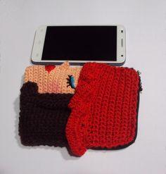 Estuche para guardar teléfono móvil.Crochet.