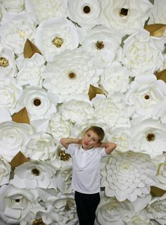 A personal favourite from my Etsy shop https://www.etsy.com/uk/listing/513925870/paper-flower-backdrop-giant-paper
