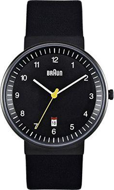 Braun Men's Quartz 3 Hand Movement Watch BN0032BKBKG With Leather Strap Braun http://www.amazon.co.uk/dp/B004X4KW1Q/ref=cm_sw_r_pi_dp_8RUrwb0MGS9GB