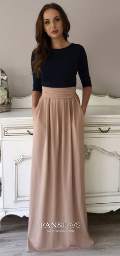 Champagne Prom Dresses Long, A Line Prom Dresses Modest, Elegant Prom Dresses With Sleeves, Beautiful Prom Dresses Simple #FansFavs #champagnedress #alinedress #dresswithsleeves