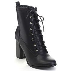 EYE Candie KIT-64 Women's High Chunky Heel Up Side Zip Mid-Calf Boots