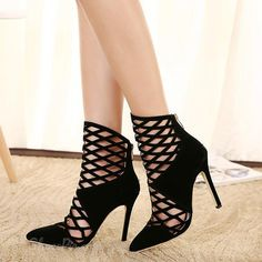Sexy Cut-outs Roman Style Stiletto Heels