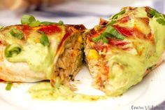 white bean and avocado enchiladas. super complicated recipe, but can easily be simplified.