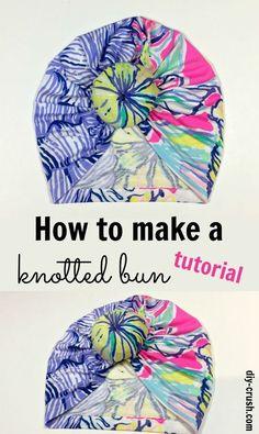 How to make a knotted bun for turban beanie. A free tutorial   DIY Crush