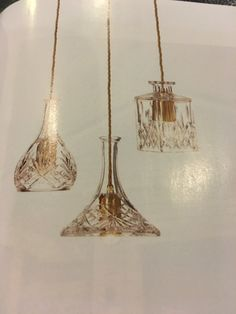 Up cycling old crystal decanters into hanging pendants