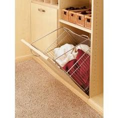 closet hanging organizer with removable laundry bin - Google Search