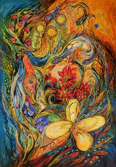 The Flowers of Holy Land Painting  by Elena Kotliarker