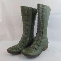 60d4ad4c7d MIZ MOOZ Otis Women s Mid-Calf Boot GREEN Sz 38 7.5