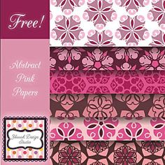 Scrappy Girl: Free Abstract Pink Digital Papers