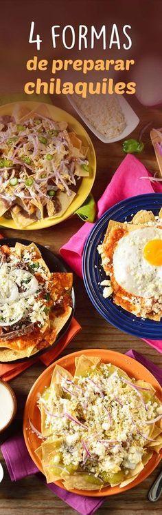 Chilaquiles 4 formas