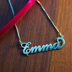 Carrie Name Necklace in Sterling Silver