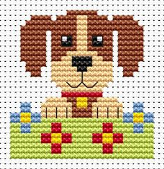 Sew Simple Dog cross stitch kit from Fat Cat Cross Stitch Finished size approx…