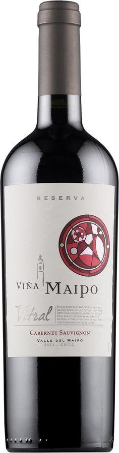 Viña Maipo Reserva Vitral Cabernet Sauvignon 2015 * Cabernet Sauvignon, Vodka Bottle, Drinks, Beverages, Drink, Beverage, Drinking