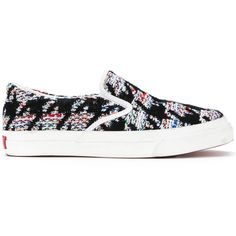 Coohem x MoonStar slip on sneakers ($261) ❤ liked on Polyvore featuring shoes, sneakers, black shoes, pull on shoes, kohl shoes, pull-on sneakers and slip on shoes