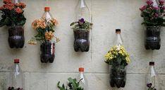 jardines verticales con botellas de plástico 2