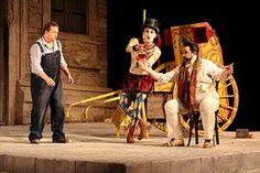 Lez Brotherston: L'Elisir dAamore by Glyndebourne Touring Opera at Glyndebourne in 2007