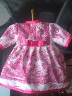 """Vestido en """"toile de Jouy"""", para Nenuca"""